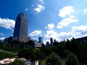 スタジオバーズからみえる六本木赤坂の風景